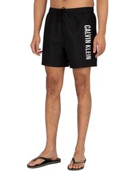 Calvin Klein Medium Drawstring Swim Shorts - Black