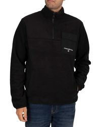 Calvin Klein Polar Utility Zip Sweatshirt - Black