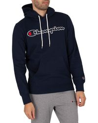 Champion Comfort Graphic Pullover Hoodie - Blue