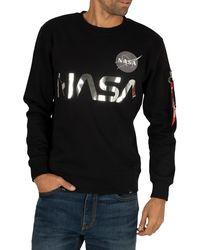 Alpha Industries Nasa Reflective Sweatshirt - Black