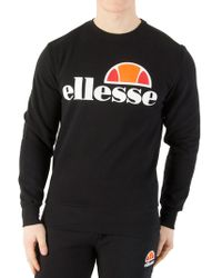 Ellesse Anthracite Succiso Graphic Sweatshirt - Black