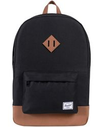 Herschel Supply Co. - Black/tan Heritage Backpack - Lyst