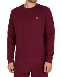 Lyle & Scott Crew Sweatshirt - Red