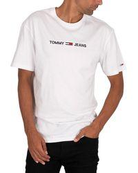 Tommy Hilfiger Straight Logo T-shirt - White