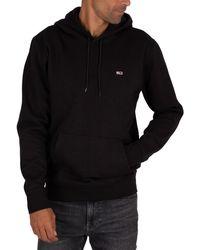 Tommy Hilfiger Regular Fleece Pullover Hoodie - Black