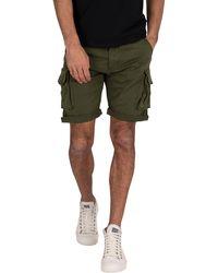 Alpha Industries Crew Cargo Shorts - Green