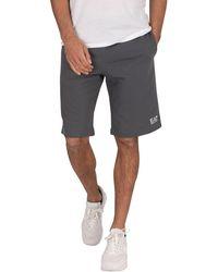 EA7 Logo Sweat Shorts - Grey