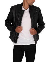 G-Star RAW Moto Leather Jacket - Black