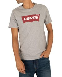 Levi's Regular Fit Batwing Printed T Shirt - Black