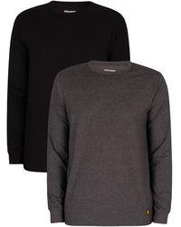 Lyle & Scott Kane Lounge 2 Pack Longsleeved T-shirts - Grey