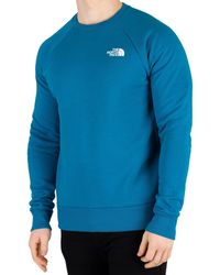 The North Face Raglan Redbox Sweatshirt - Blue