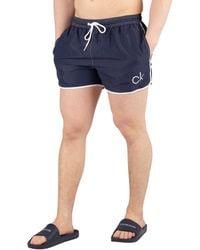 Calvin Klein Runner Swim Short - Blue
