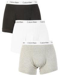 Calvin Klein 3 Pack Trunks - White