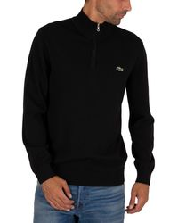 Lacoste Zip Knit - Black