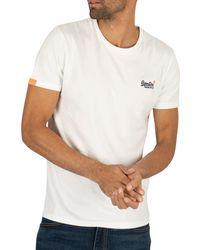Superdry Orange Label Vintage Emb T-shirt - White