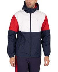 Tommy Hilfiger Nylon Colourblock Windbreaker Jacket - White