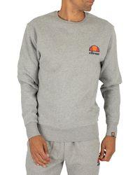 Ellesse Diveria Left Chest Logo Sweatshirt - Grey