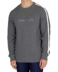 DIESEL Grey Willy Sweatshirt - Gray