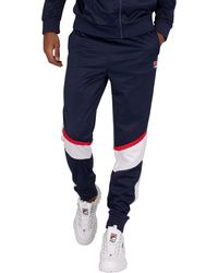 Fila Anik Color Blocked Sweatpants - Blue