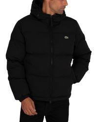 Lacoste Logo Puffer Jacket - Black