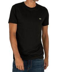 Lacoste Logo Crew T-shirt - Black