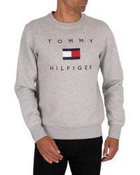 Tommy Hilfiger Flag Sweatshirt - Gray