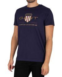 GANT Archive Shield T-shirt - Blue