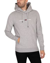 Tommy Hilfiger - Straight Logo Pullover Hoodie - Lyst