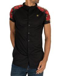 SIKSILK Raglan Back Panel Short Sleeved Shirt - Black