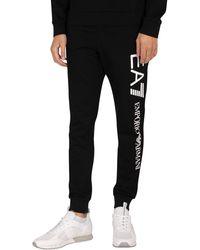 EA7 Side Logo Sweatpants - Black