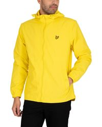 Lyle & Scott Zip Through Hooded Jacket - Yellow