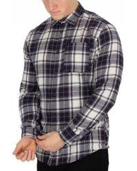 Jack & Jones - Meerkat Navy Steven Pocket Slim Fit Shirt - Lyst