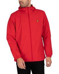 Lyle & Scott Zip Through Hooded Jacket - Red