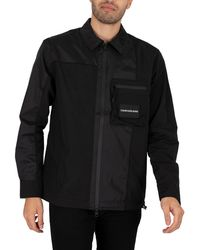 Calvin Klein Hybrid Overshirt - Black