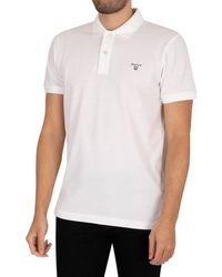GANT The Summer Pique Rugger Poloshirt - White