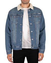 Jack & Jones Jeans Sherpa Jacket - Blue