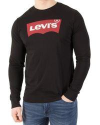 Levi's - Classic Logo Jersey Long Sleeve T-shirt - Lyst