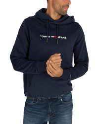 Tommy Hilfiger Mens Blue Hooded Sweatshirt