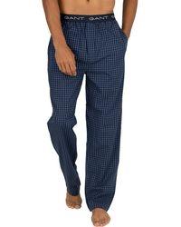 GANT Gingham Pyjama Bottoms - Blue