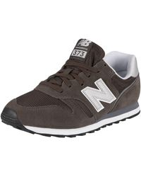 New Balance 373 Suede Sneakers - Black