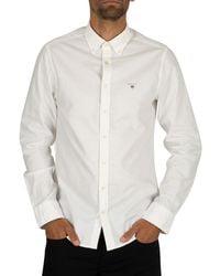 GANT The Slim Oxford Shirt - White