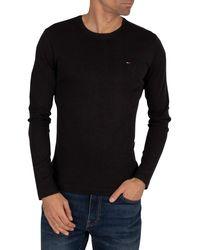 Tommy Hilfiger Longsleeved Slim Fit T-shirt - Black