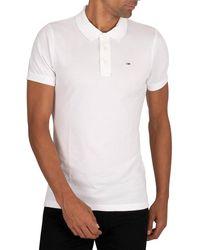 Tommy Hilfiger Original Fine Slim Polo Shirt - White