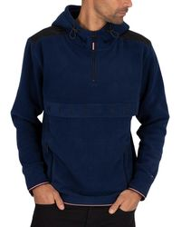 Tommy Hilfiger Polar Fleece Anorak Jacket - Blue