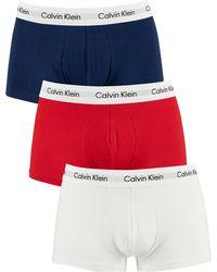 Calvin Klein 3 Pack Low Rise Trunks - White