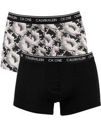 Calvin Klein 2 Pack Ck One Trunks - Black