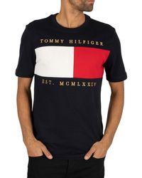 Tommy Hilfiger Flag Chest Embroidery Relax T-shirt - Black