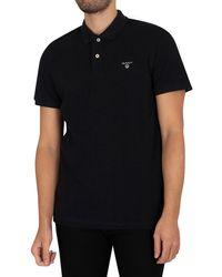 GANT The Summer Pique Rugger Poloshirt - Black