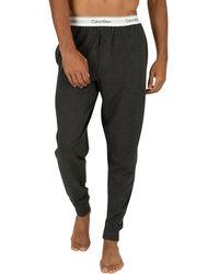 Calvin Klein Logo Pyjama Bottoms - Gray