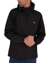 Lyle & Scott Zip Through Hooded Jacket - Black